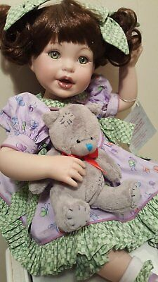 """Porcelin Doll by Marie Osmond, 12"""" sitting, COA, Orig. Box. Exellent condition!"""