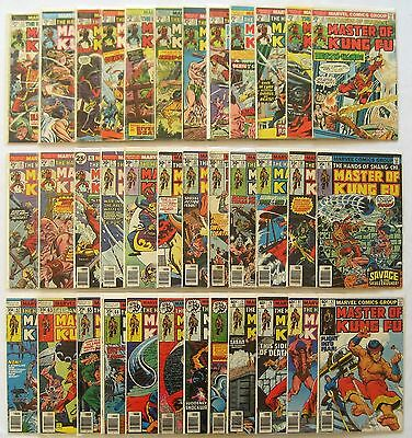 Master of Kung Fu - HUGE Lot of 72 - # 17 - # 125 Bronze Marvel Comics 1974