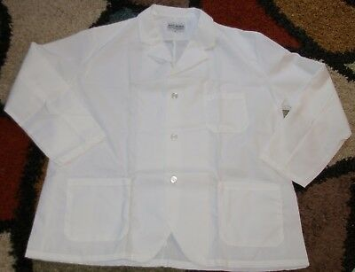 "Best Medical Woman L/S Staff Lab Coat Smock 3 Pocket 31"" Length Sz XL"