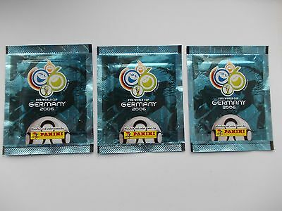 football stickers panini World Cup 2006 x 3 unopened packets