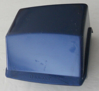 Rolodex Covered Blue Petite Card File With Index Tabs & Cards