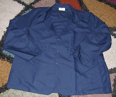 "Best Medical Wear Woman L/S Staff Lab Coat Navy 30"" Length Sz 2X"