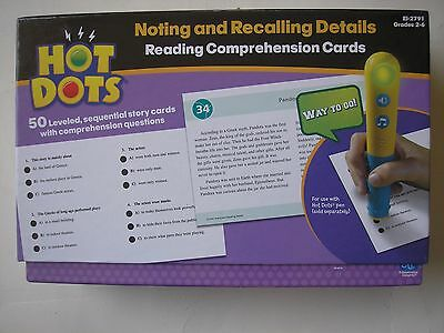 Hot Dots - Reading Comprehension Cards - Pen Included - Grades 2 - 6 New