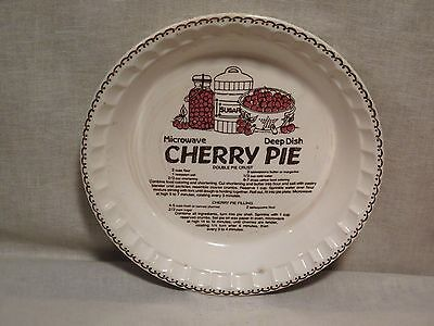 Cherry Pie Baking Dish With Recipe Country Harvest