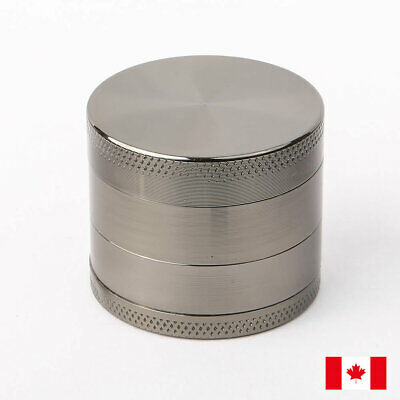 Gun Metal Zinc Alloy 4 Layers 40mm Tobacco Herb Grinder w/ Scraper