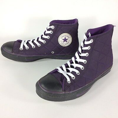 2af402e72b81 Converse Chuck Taylor Quilted Purple Hi-Top Sneakers US Size Men 7 Women 9