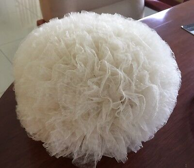Vintage Hat - Pompom Style - Off White In Ex. Condition.
