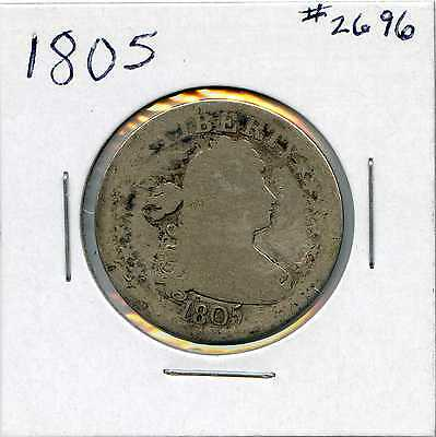 1805 25C Draped Bust Silver Quarter. Circulated. Lot #2470