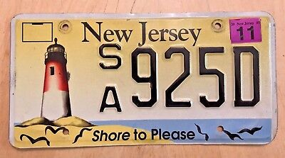 "New Jersey Shore To Please License Plate "" Sa 925D "" Nj Lighthouse Beach Ocean"
