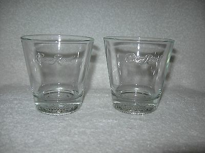 2 Round Crown Royal Whisky Drink Glasses Embossed Crown Royal Cocktail Glass