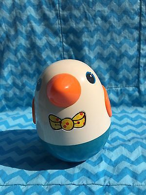 Vintage Roly Poly Chime Bird Weeble Wobble Chick Playskool Made In Korea