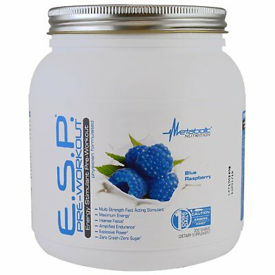 ESP Pre-Workout Blue Raspberry by Metabolic Nutrition 30-90 Serve