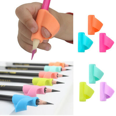 Kids Gift 3PCS Pencil Holder Pen Writing Aid Grip Posture Correction Device Tool