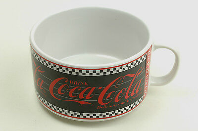 Coca Cola Soup Coffee Mug 1995 Black and White Checkered Pattern