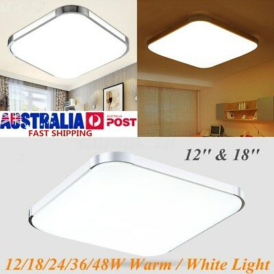 12/18/24/36/48W Warm White LED Square Ceiling Light Bedroom Lamp Surface Mount