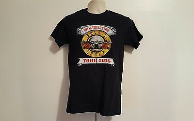 Guns N Roses 2016 Not in This Life Time Adult Small Black Tour T-Shirt