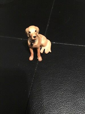 Yellow Labrador Ceramic Figurine No Brand Listed