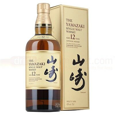 Suntory Yamazaki 12 Year Old Single Malt Whisky 700mL Boxed 43% ALC/VOL