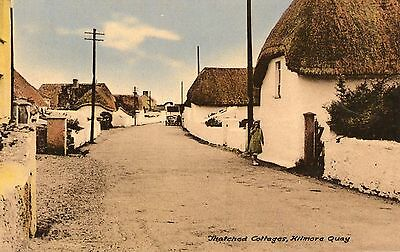 THATCHED COTTAGES KILMORE QUAY WEXFORD IRELAND POSTCARD by JOHN ROCHFORD