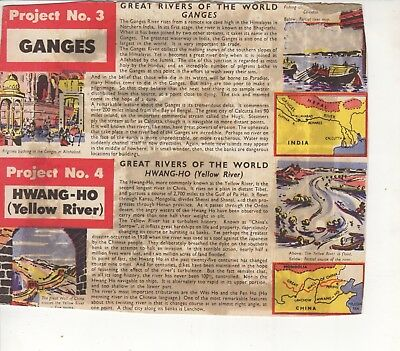 Kelloggs Australia: Project Cards Box Panel #1/2 Rivers: The Ganges and Yellow