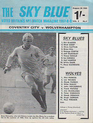 1969 COVENTRY CITY v WOLVES - Division 1 Football Programme
