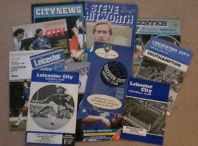 LEICESTER  CITY  Football Programmes x10 listed man united etc