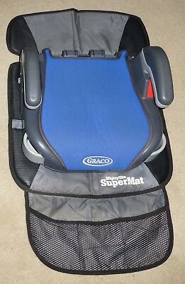 Graco Booster Seat with Supermat Seat Protection Mat