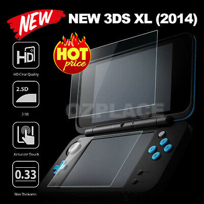 9H Tempered Glass Clear Screen Protector For New Nintendo 3DS XL Anti-Scratch AU