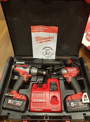 Milwaukee M18FPP2A-523X 18V Fuel Impact Driver & Combi Drill Twin Pack Kit