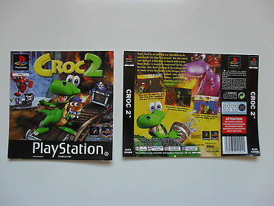 Original cover inlay for CROC 2 - Playstation 1