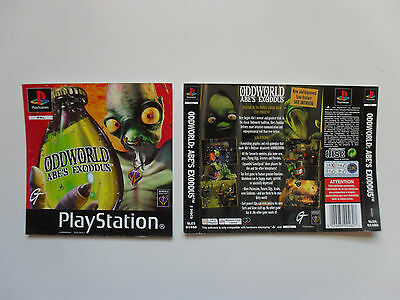 Original cover inlay for Oddworld Abe's Exoddus - Playstation 1