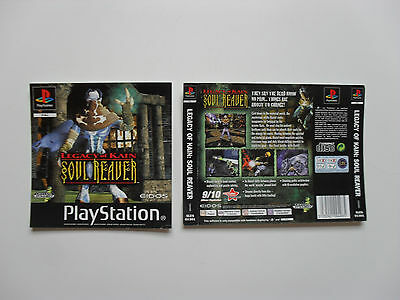 Original cover inlays for SOUL REAVER - Playstation 1 - PS1