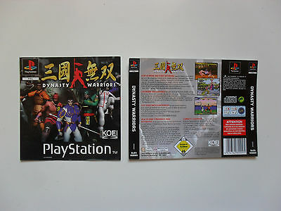 Original cover inlay for Dynasty Warriors - Playstation 1