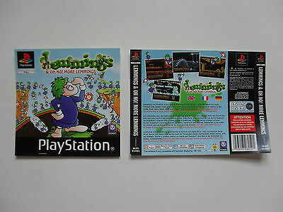 Original cover inlays for Lemmings - Playstation 1 - PS1