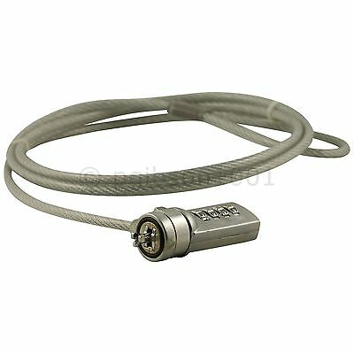 Laptop Combination Lock Security Cable Cut Resistant Steel 10000 Possible Codes