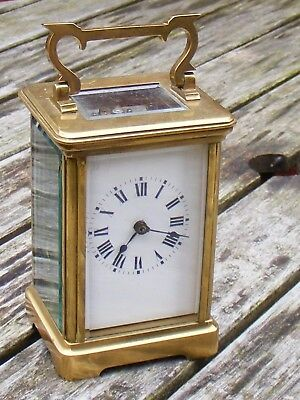 Antique French 8 Day, Hour Striking Carriage Clock,