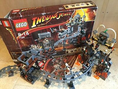 Lego 7199 Indiana Jones & The Temple of Doom • 100% Complete, All Figs, Boxed
