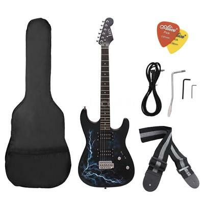 Dual Dual Pickups Electric Guitar Basswood Body with Gig Bag Picks Strap L5A5