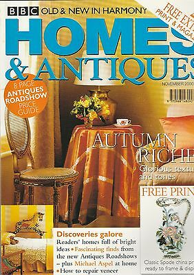 Homes And Antiques November  2000