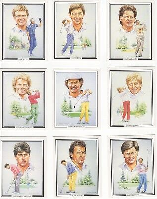 Golf Cards - The Ryder Cup Winners FULL SET of 15