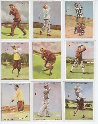 Golf Cards - Victoria Gallery reproduction of Famous Golfers 1930
