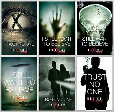 """The X-Files Set of 6 Posters 12x18"""" Beautiful and New! Aliens Sci-Fi Poster Rare"""