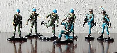 Model soldiers with moveable joints