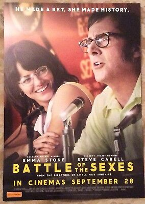 Promotional Movie Flyer For Battle If The Sexes Emma Stone, Steve Carell