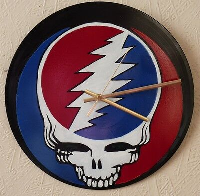 GRATEFUL DEAD inspired record wall clock..