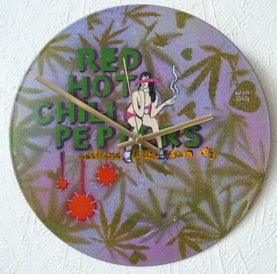RED HOT CHILI PEPPERS inspired record wall clock.