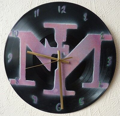 nine inch nails inspired record wall clock