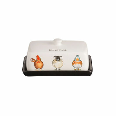 Price & Kensington Back To Front Butter Dish, High Gloss White