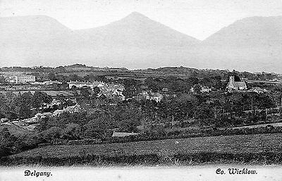 Delgany Co. Wicklow Ireland Vintage Irish Postcard By Lawrence
