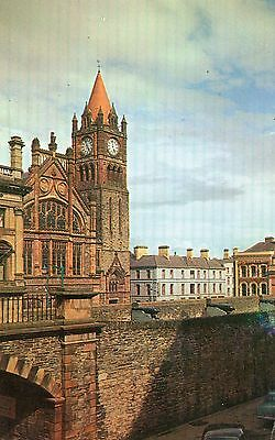 Guildhall & Walls Londonderry Co. Derry Ireland Ranscombe Postcard Sent May 1966
